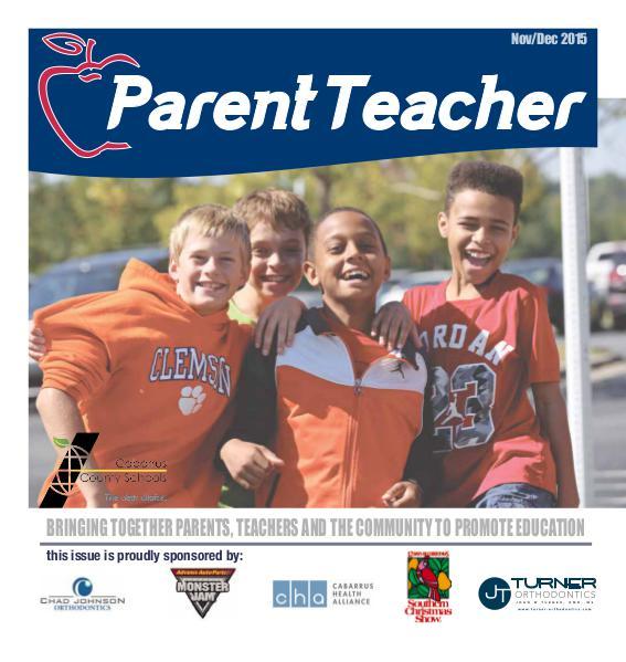 Parent Teacher Magazine Cabarrus County Schools Nov/Dec 2015