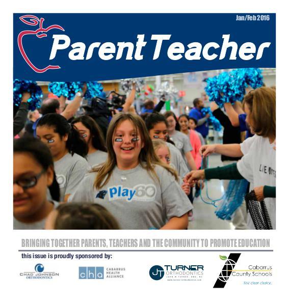 Parent Teacher Magazine Cabarrus County Schools Jan/Feb 2016