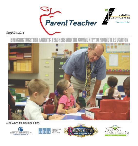 Parent Teacher Magazine Cabarrus County Schools Sept/Oct 2016