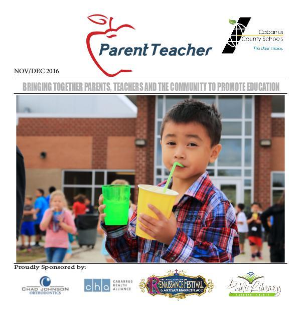 Parent Teacher Magazine Cabarrus County Schools Nov/Dec 2016