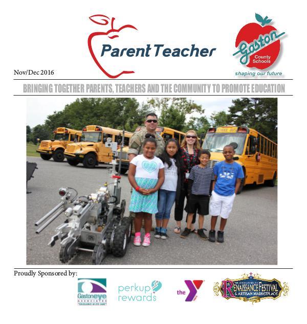 Parent Teacher Magazine Gaston County Schools Nov/Dec 2016