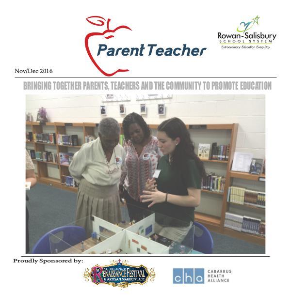 Parent Teacher Magazine Rowan-Salisbury Schools Nov/Dec 2016