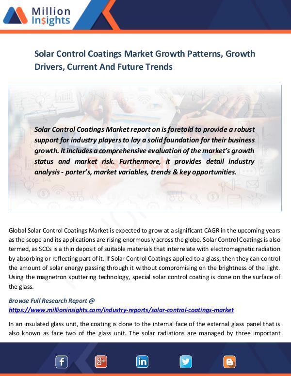 Solar Control Coatings Market
