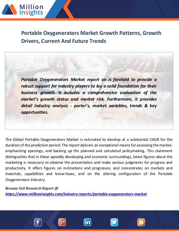 Portable Oxygenerators Market