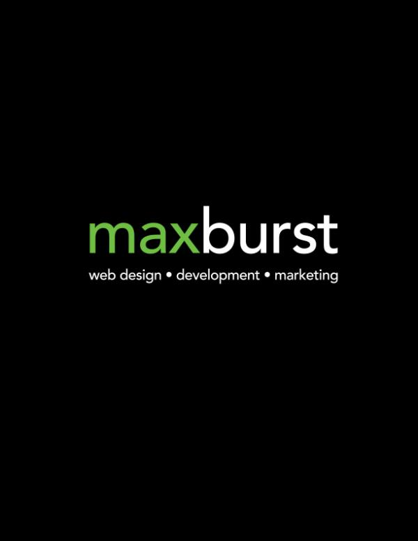 MAXBURST Inc - web design - development - marketing MAXBURSTLookbook