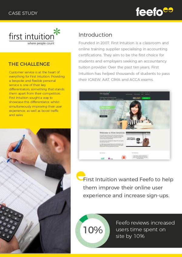 Case Studies First Intuition Case Study