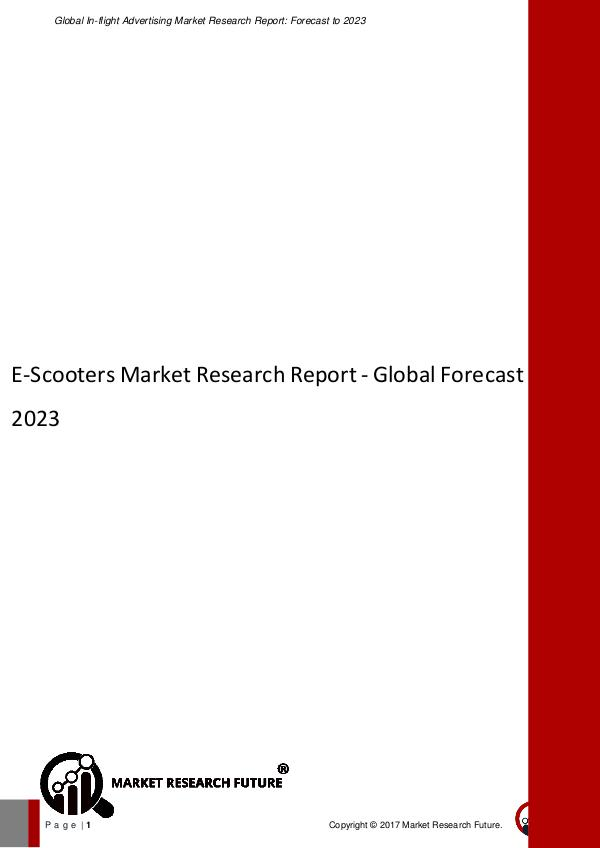 E-Scooters Market Research Report - Global Forecas