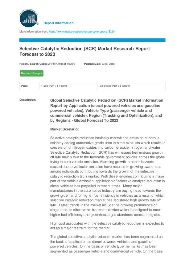 Selective Catalytic Reduction (SCR) Market Researc
