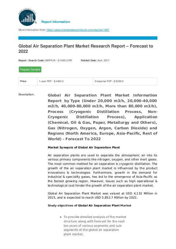 Air Separation Plant Market Research Report - Fore
