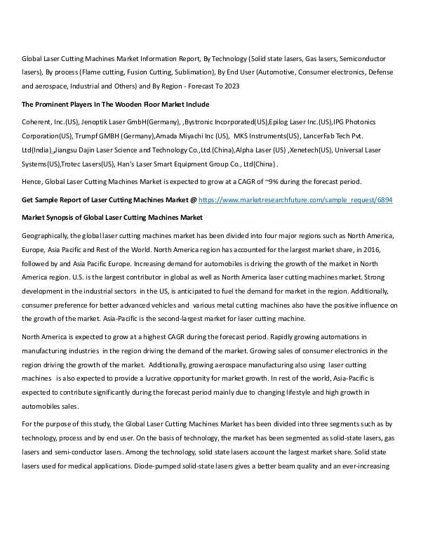 Laser Cutting Machines Market Research Report - Gl