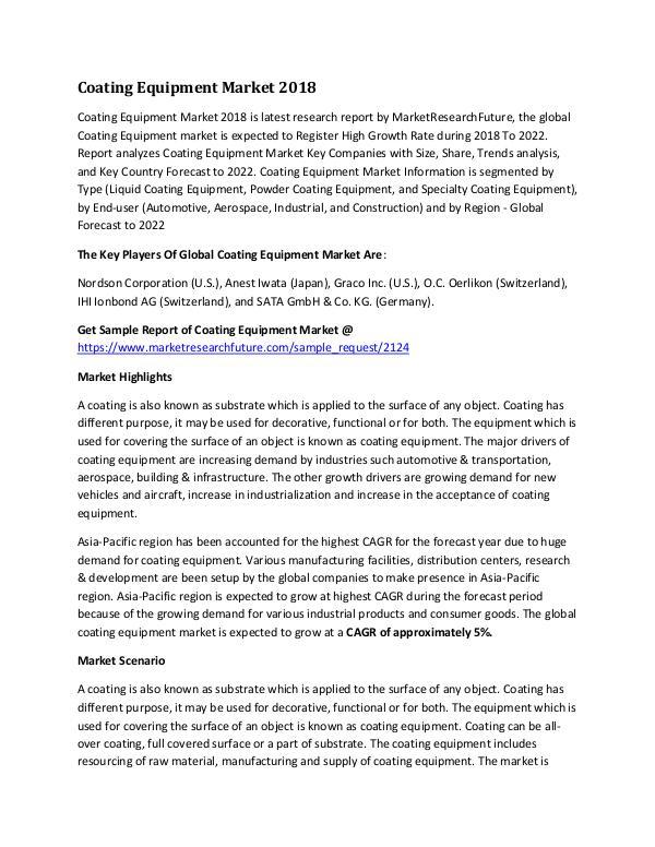 Global Coating Equipment Market Research Report -