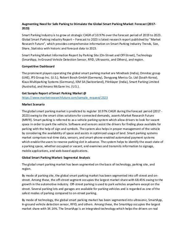 Global Smart Parking Market_Written by Trisha