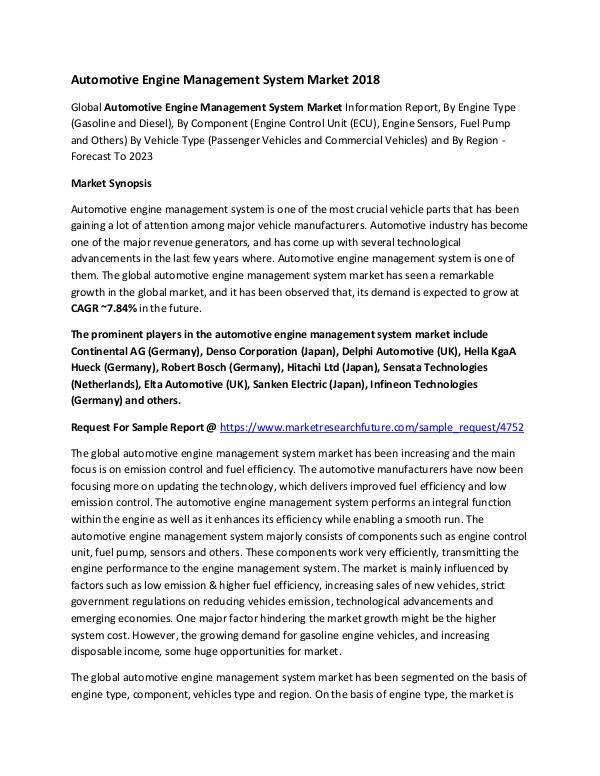 Automotive Engine Management System Market Researc