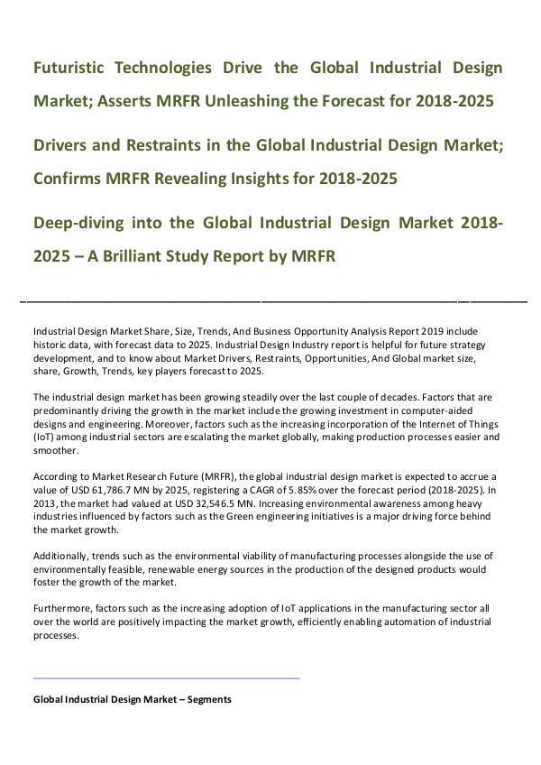 Global Industrial Design Market _Written By Mausam