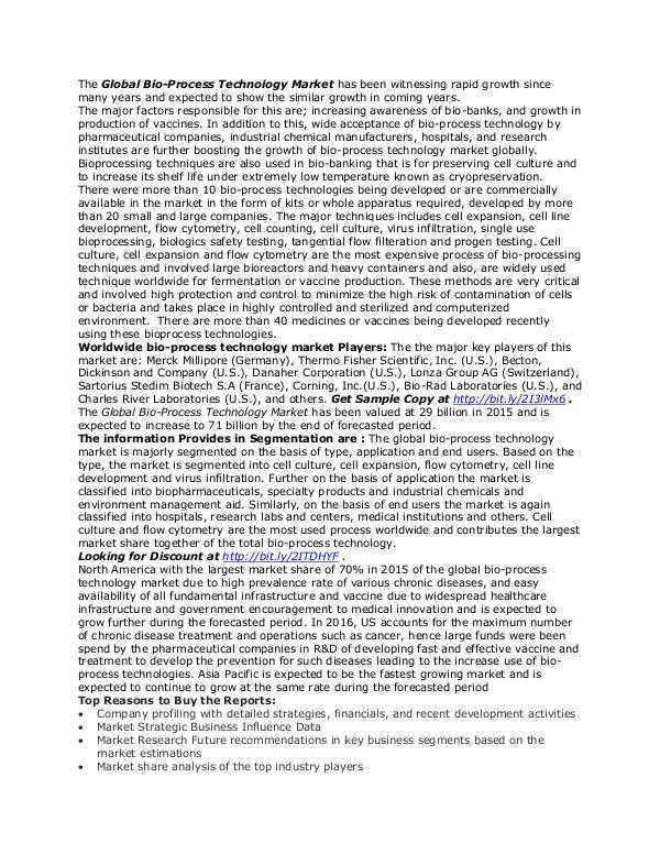 Healthcare Publications Bio-Process Technology Market
