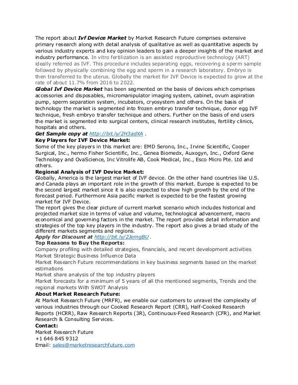 Healthcare Publications Ivf Device Market