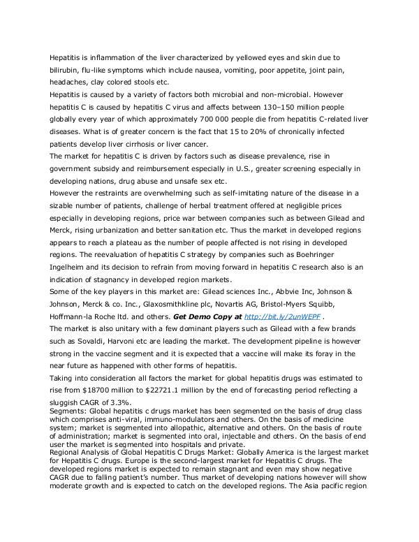 Healthcare Publications hepatitis C Drug