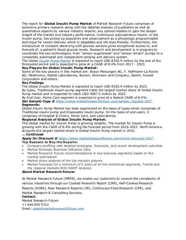 Healthcare Publications Insulin Pump Market