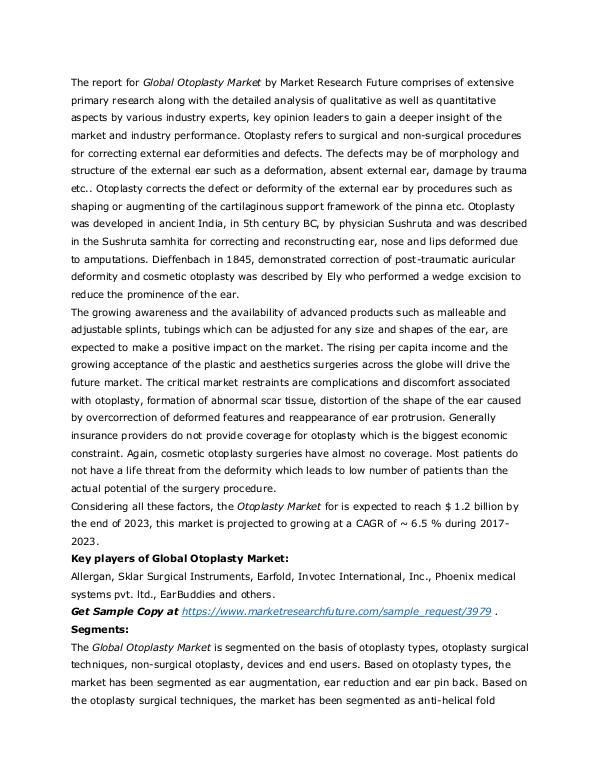 Healthcare Publications Otoplasty Market