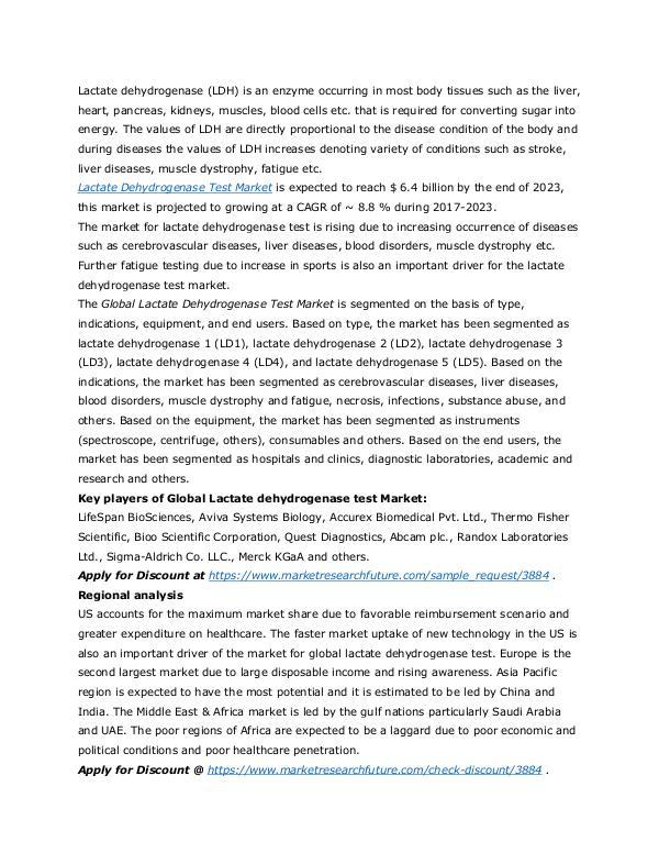 Lactate Dehydrogenase Test Market