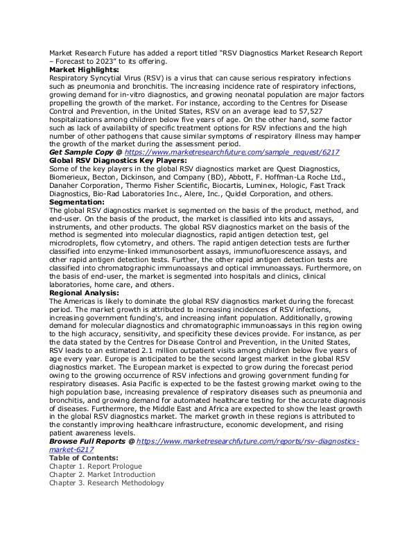 RSV Diagnostics Market