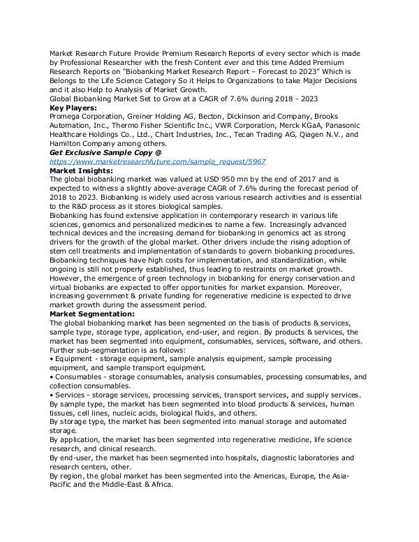 Healthcare Publications Biobanking Market