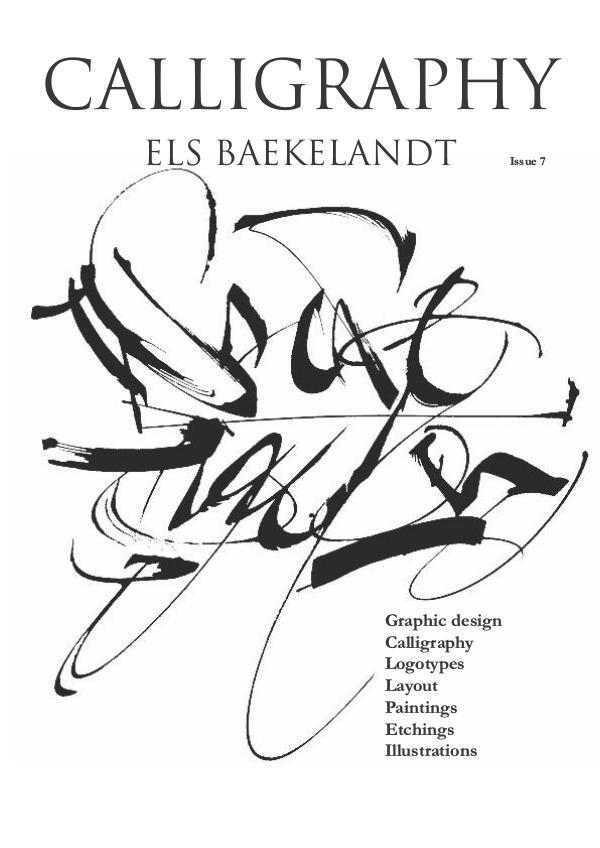 Calligraphy magazine 7