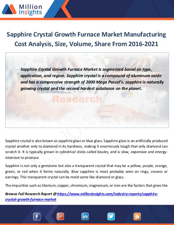 Market Revenue Sapphire Crystal Growth Furnace Market Report
