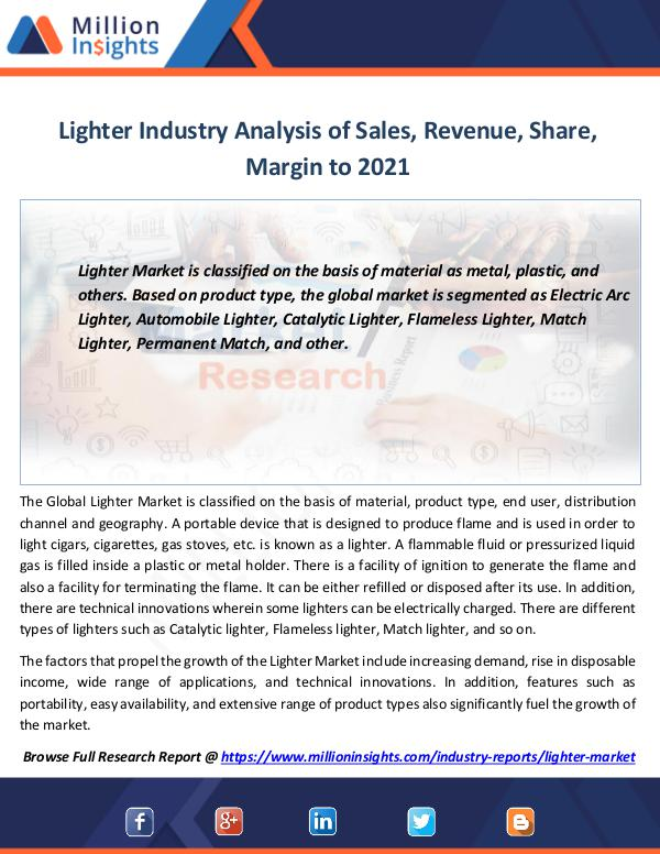 Market Revenue Lighter Industry Analysis of Sales