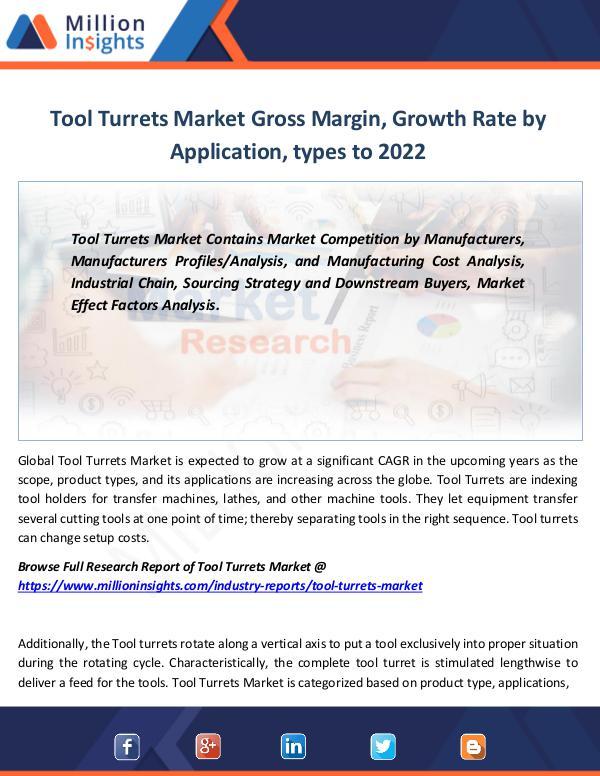 Market Revenue Tool Turrets Market Gross Margin, Growth Rate 2022