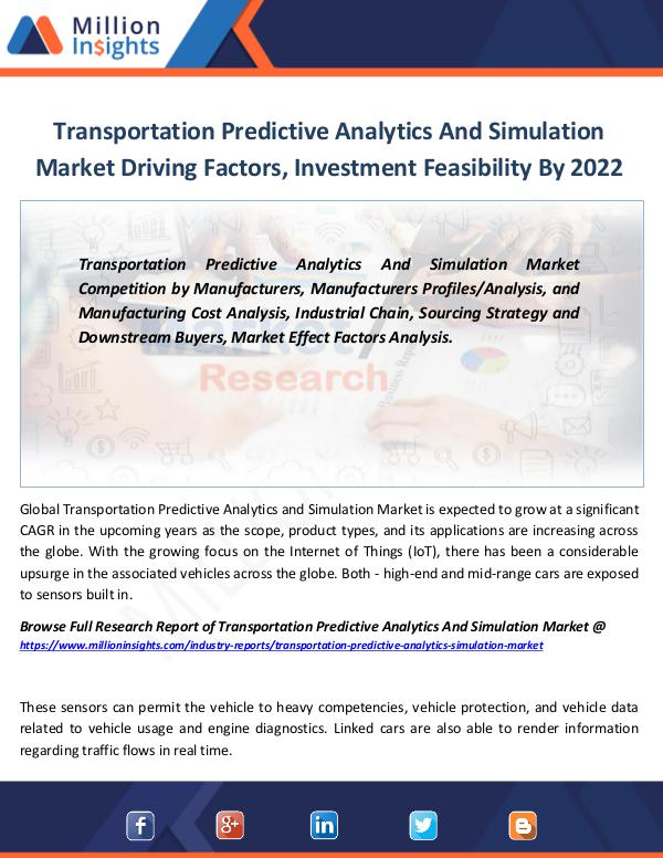 Market Revenue Transportation Predictive Analytics And Simulation