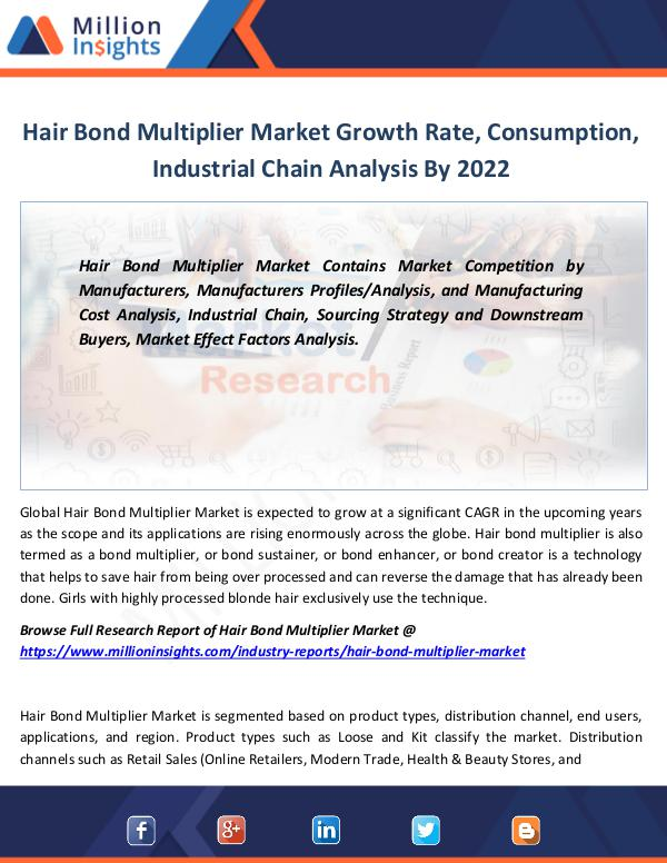 Market Revenue Hair Bond Multiplier Market Growth Rate 2022