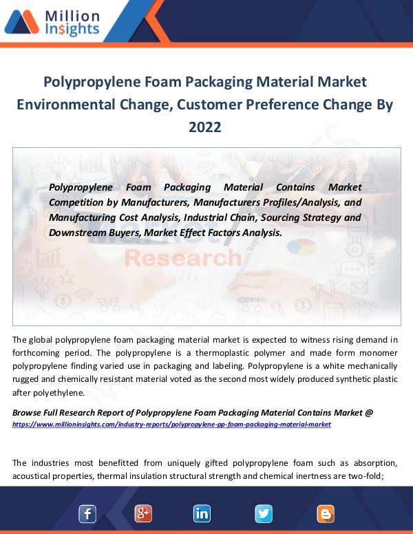 Market Revenue Polypropylene Foam Packaging Material Market 2022