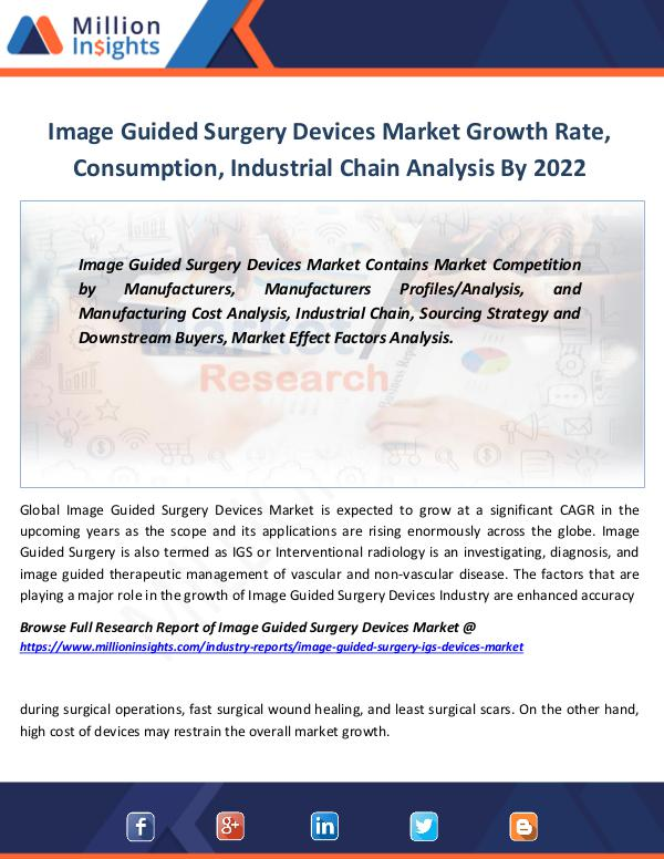 Market Revenue Image Guided Surgery Devices Market Growth Rate