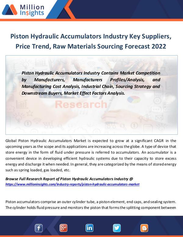 Market Revenue Piston Hydraulic Accumulators Industry Key Players