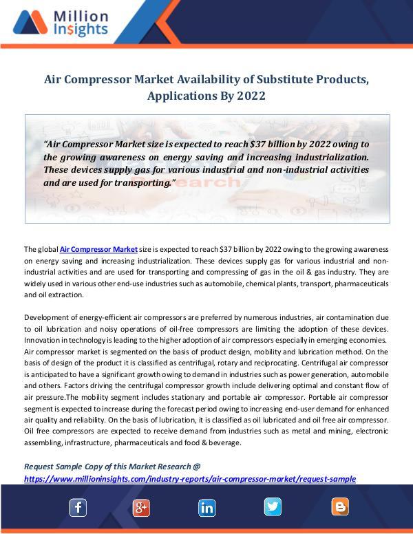 Market Revenue Air Compressor Market Revenue By 2022