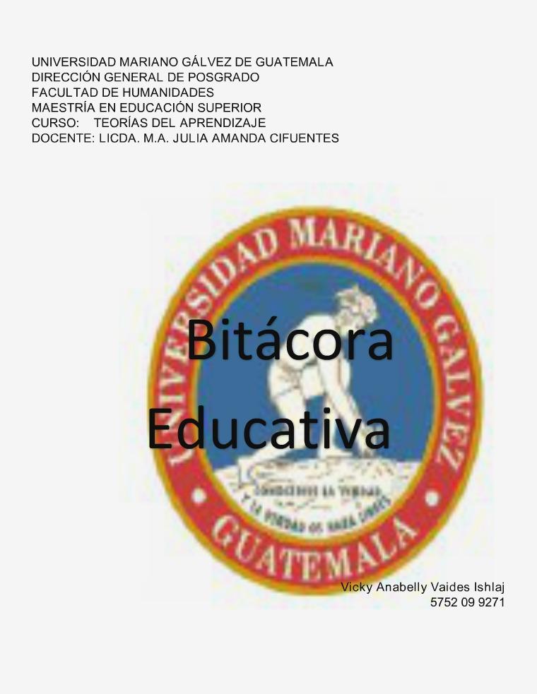 Bitácora Educativa portafolio