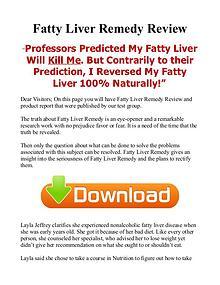 Fatty Liver Remedy Natural / PDF eBook Free Download