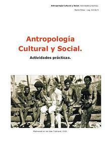 Antropología Cultural y Social