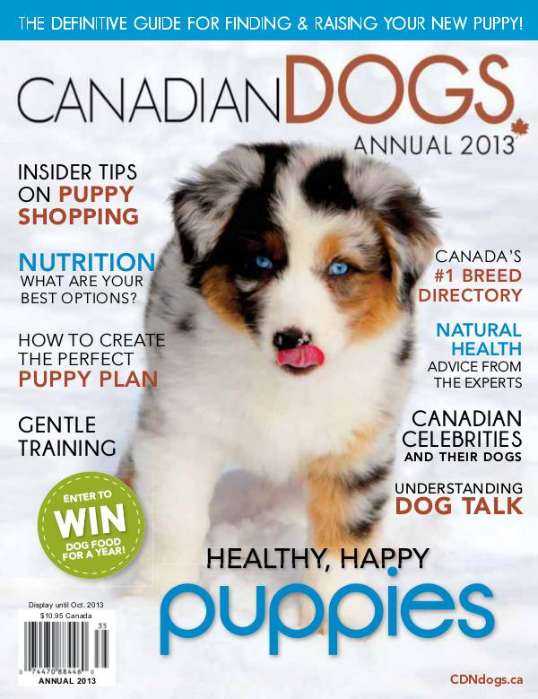 Canadian Dogs Annual 2013