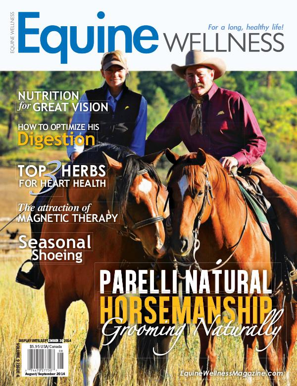 Equine Wellness Magazine Aug/Sept 2014
