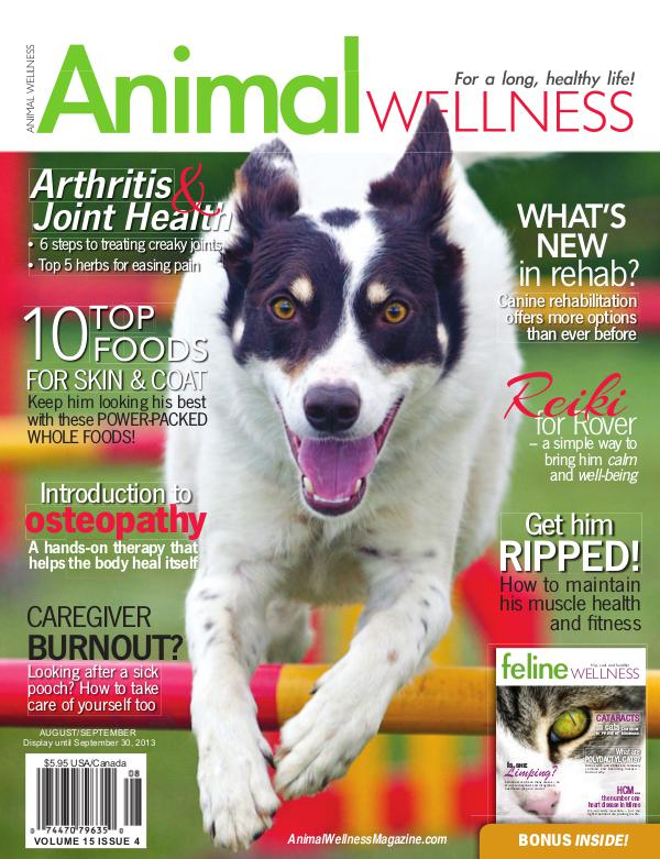 Animal Wellness Magazine Aug/Sept 2013