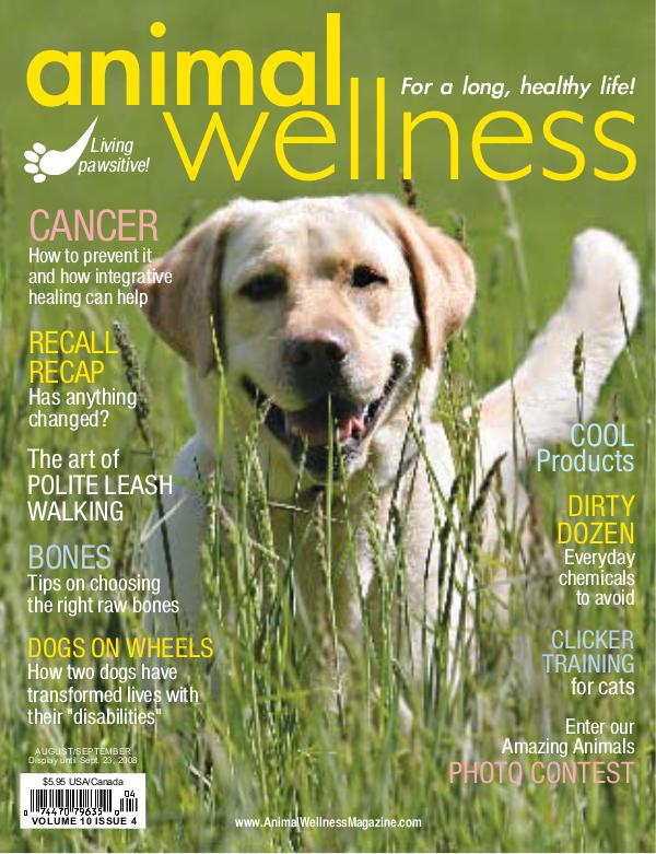 Animal Wellness Magazine Aug/Sept 2008