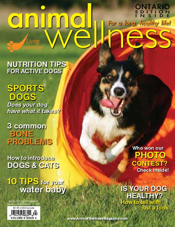 Animal Wellness Magazine Aug/Sept 2007