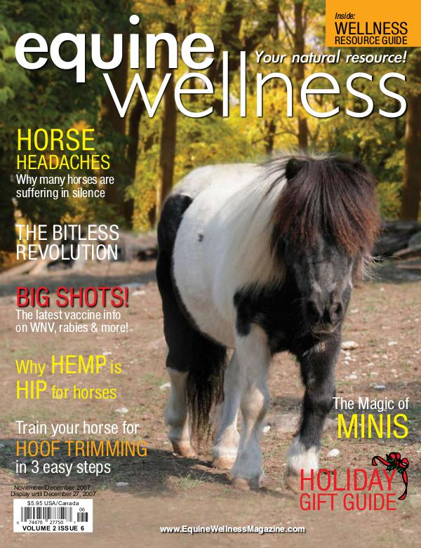 Equine Wellness Magazine Nov/Dec 2007
