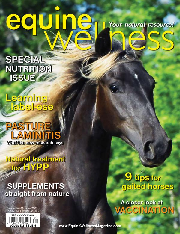 Equine Wellness Magazine Sep/Oct 2007