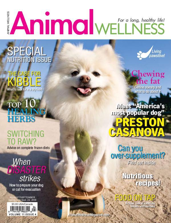 Animal Wellness Back Issues Aug/Sept 2009