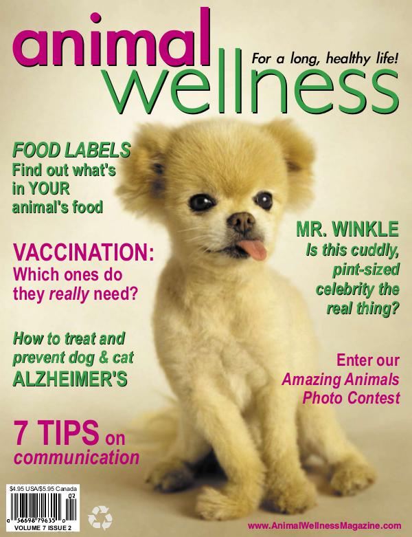 Animal Wellness Back Issues Apr/May 2005