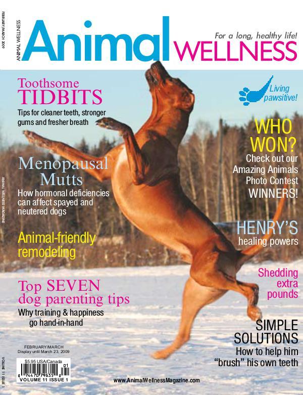 Animal Wellness Back Issues Feb/Mar 2009