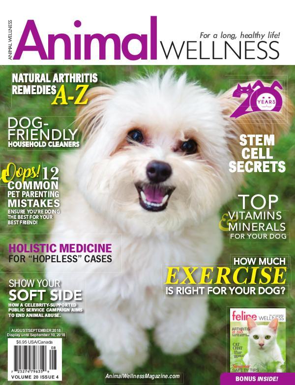 Animal Wellness Back Issues Aug/Sept 2018